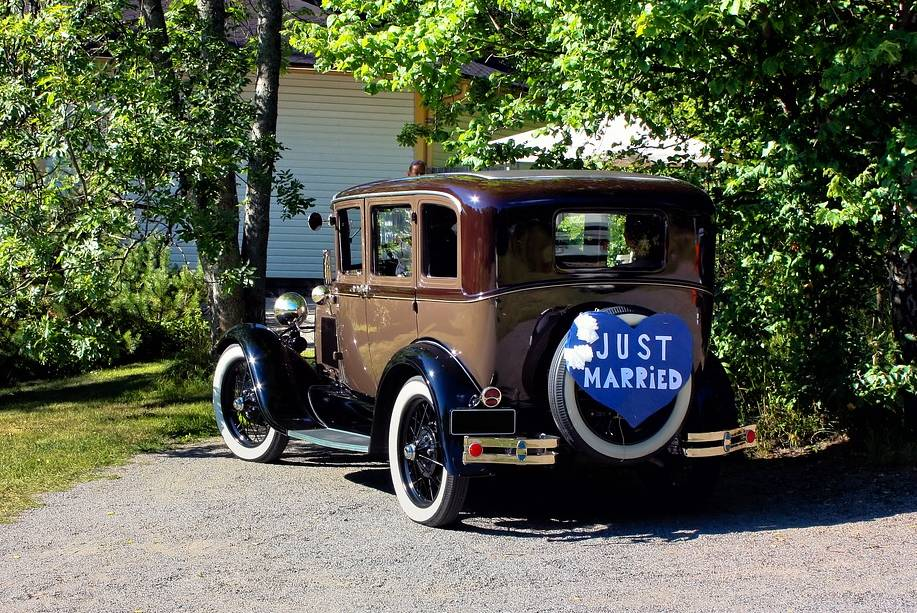 voiture retro mariage